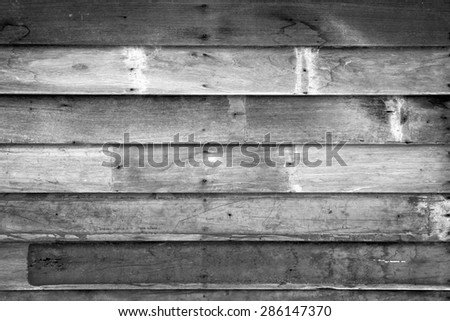Weathered wooden planks. Abstract backdrop for design black and white version - stock photo