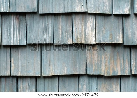 Weathered Wooden Shingles - stock photo