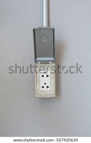 Old Vintage Light Switch Electric Plug Stock Photo