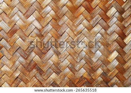 weave bamboo background - stock photo