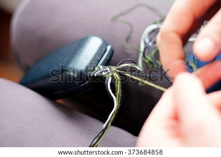 Weave bracelet - stock photo