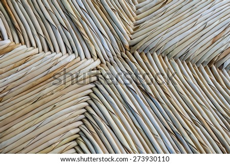 Weave pattern rattan background.Woven rattan with natural patter - stock photo