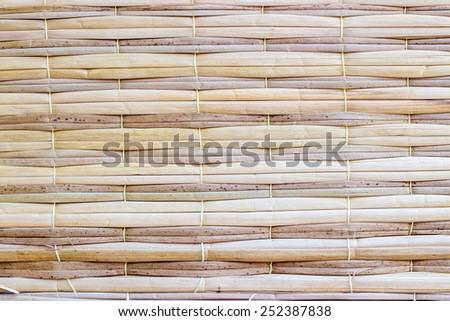 weave wooden mat background