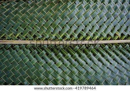 Weaving coconut leaves texture - stock photo