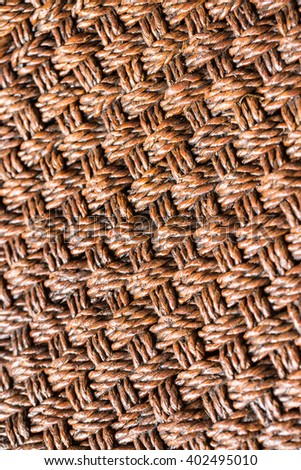 Weaving rattan background - stock photo