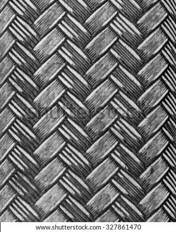 Weaving rattan basket, A close-up texture of rattan basket trays - stock photo