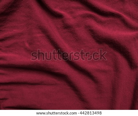 Weaving red knit fabric texture - stock photo