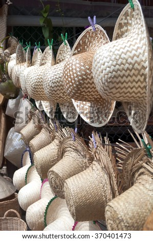 Weaving - traditional hats for sale in Asia