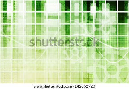 Web Application Database System in 3d Background - stock photo