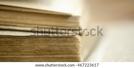 Web banner of old books in the library - wisdom, knowledge concept