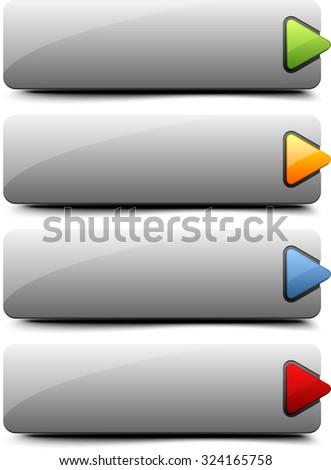 Web button - stock photo