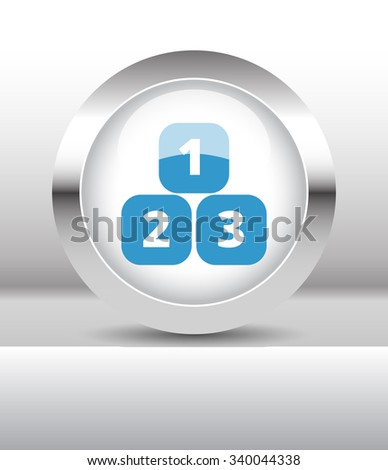 Web button with 123 Blocks illustration on abstract table - stock photo
