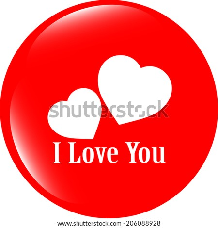 web 2.0 button with heart sign. Round shapes icon - stock photo