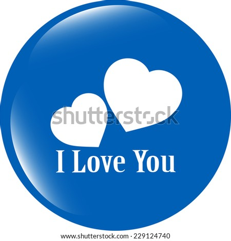 web button with heart sign. Round shapes icon - stock photo
