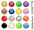 Web buttons, social media icon set. - stock photo