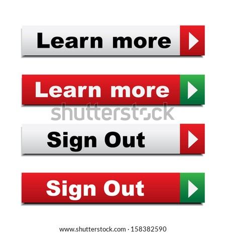 Web buttons with learn more and sign out - stock photo