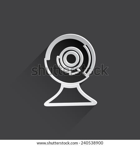 web cam flat icon illustration. - stock photo