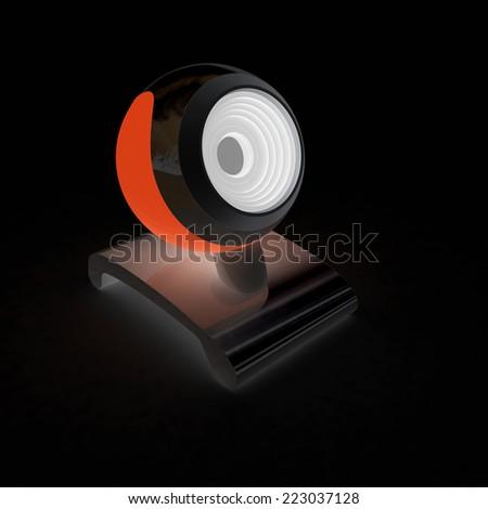 Web-cam on a black background - stock photo