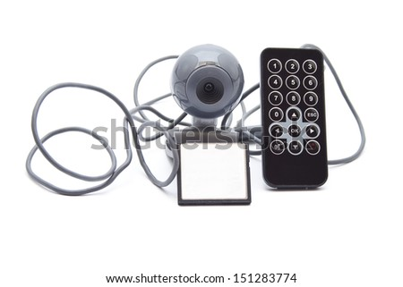 Web cam with Remote Control and Card Medium