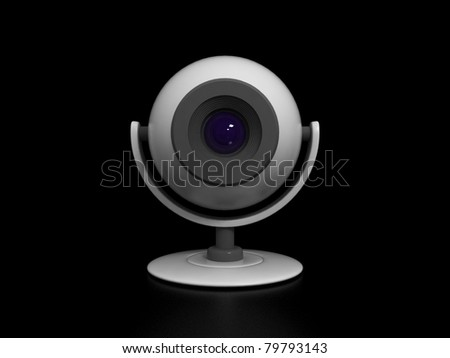Web Camera Isolated on Black Background