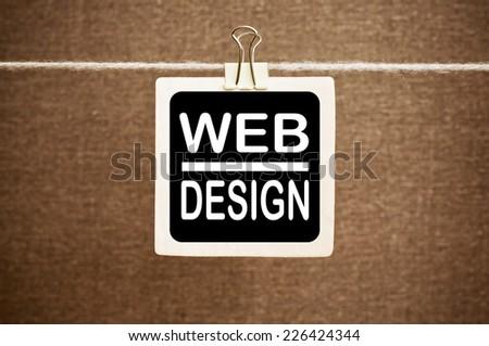 Web Design - stock photo