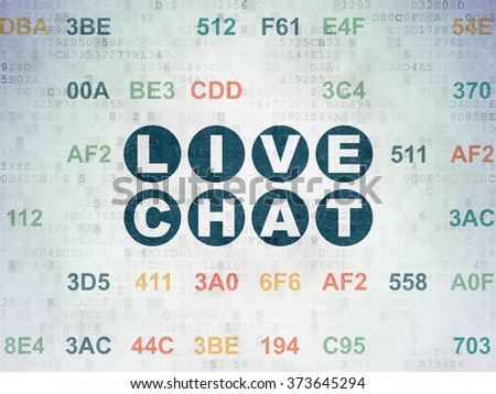 Web design concept: Live Chat on Digital Paper background - stock photo