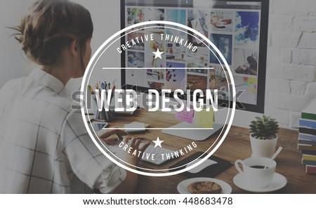 Web Design Programming Internet Online Software Concept - stock photo