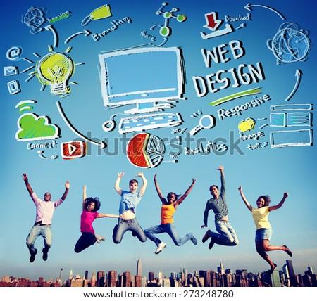 Web Design Web Development Responsive Branding Concept - stock photo