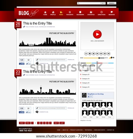 Web Design Website Element Template - stock photo