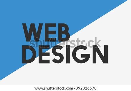 Web Design Website Homepage Word Concept - stock photo