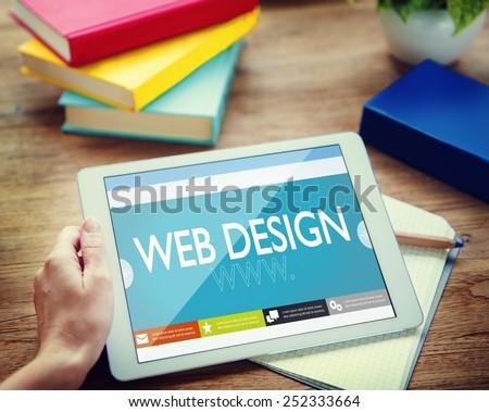 Web design Website Web  page WWW Online Internet Concept - stock photo