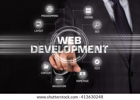 WEB DEVELOPMENT TECHNOLOGY COMMUNICATION TOUCHSCREEN FUTURISTIC CONCEPT
