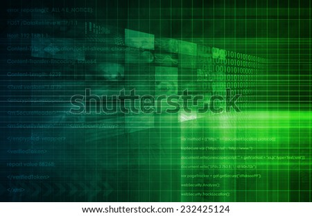Web Engineering and Delivery Platform Enterprise Applications - stock photo