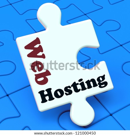 Web Hosting Showing Website Domain, URL, Webhost