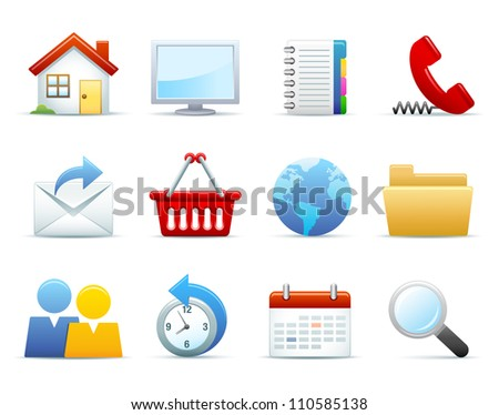 Web Icon Set - stock photo