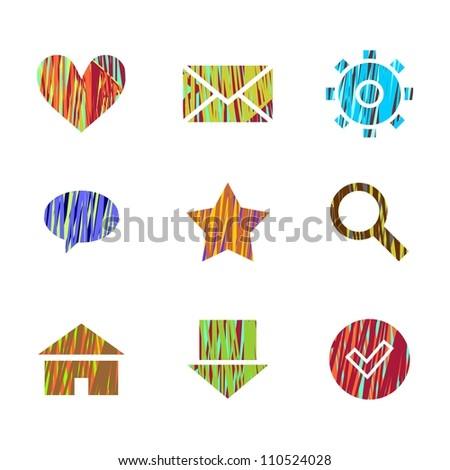 Web icons set (raster version) - stock photo
