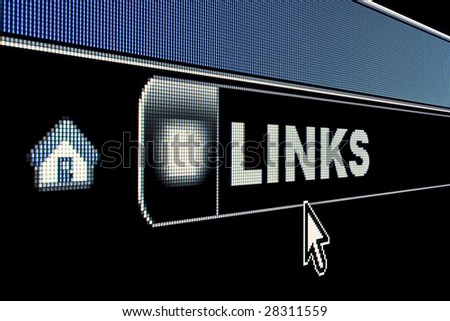 Web links concept on an internet browser URL address - stock photo