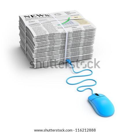 Web news concept - stock photo