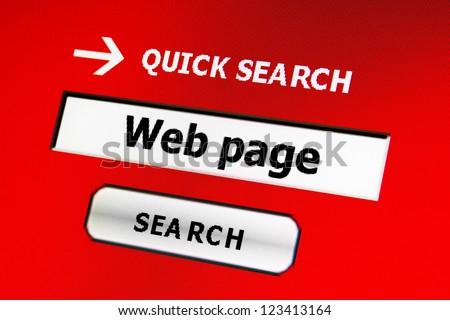 Web page search - stock photo