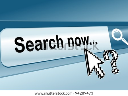 Web page with search toolbar for Internet concept. Vector version also available in gallery - stock photo
