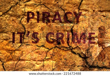 Web piracy concept - stock photo