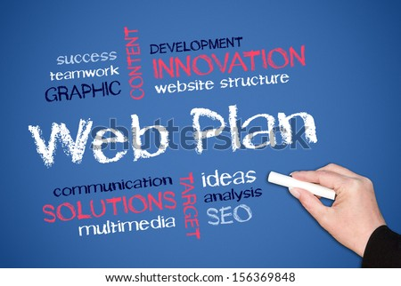 Web Plan - stock photo