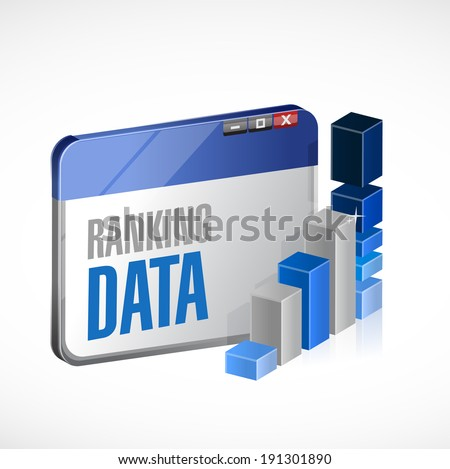 web ranking stats business illustration design over a white background - stock photo