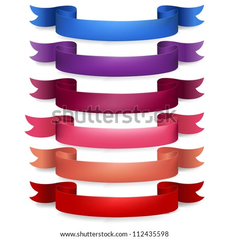 Web Ribbons Big Set, Isolated On White Background - stock photo