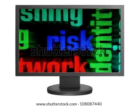 Web risk concept - stock photo