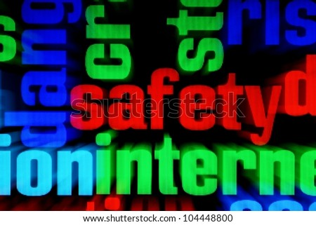 Web safety - stock photo
