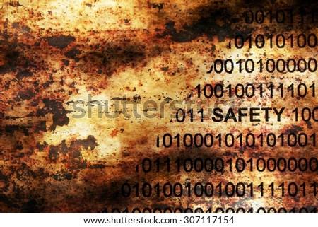 Web safety data on grunge background - stock photo