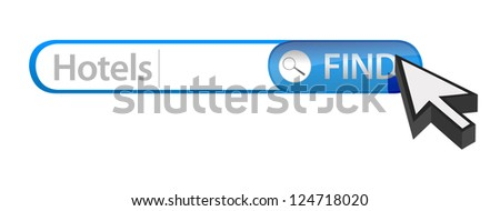 web search engine hotels illustration design over white - stock photo