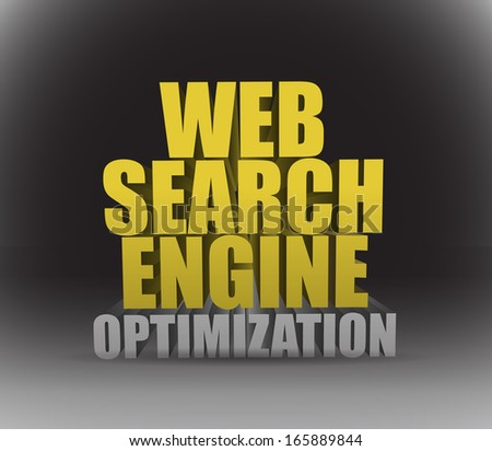 web search engine optimization sign illustration design over a black background - stock photo