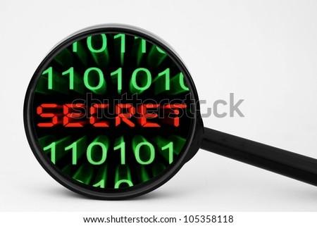 Web secret - stock photo